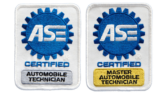 ASE Certification Patches